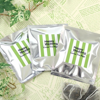 結婚式 プチギフト 緑茶ティーバッグ