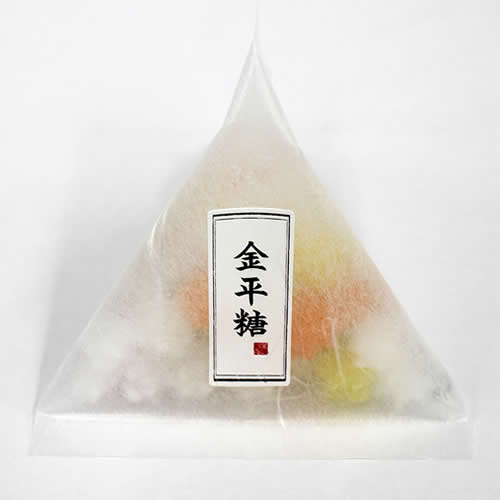 テトラ型 パッケージ 雲竜透明 和菓子 金平糖